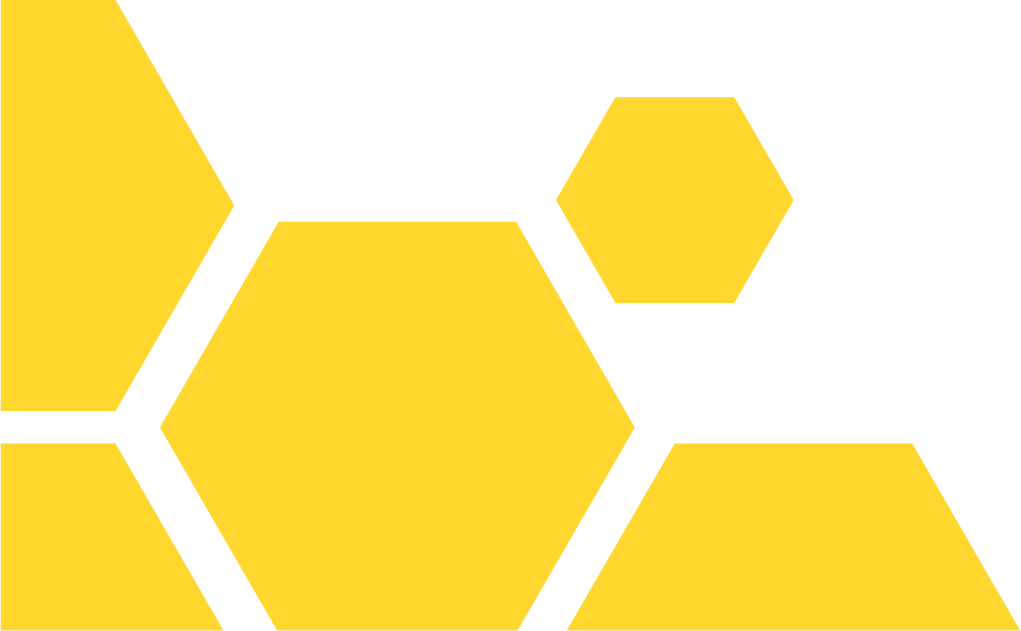 Yellow hexagons graphic