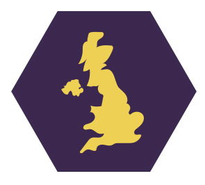 Uk hexagonal graphic