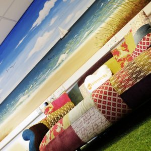 artificial turf for office reception seating area
